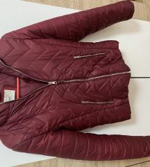 Bordo bershka jakna
