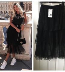Zara plumetis til suknja NOVO