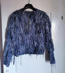 Plava jaknica sa resama