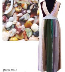 Dizajnerska haljina DESERT ROSE,NOVO