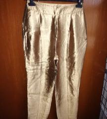 Zlatne pantalone, dubok struk SNIŽENO 990