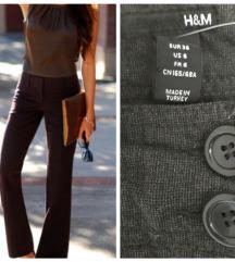 DANAS 450 H&M poslovne pantalone ,zvonaste ✿xs/s