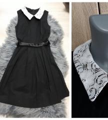Katrin crna poslovna  haljina sa kragnom 34