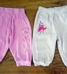 Dva para pantalonica za devojcice bebe