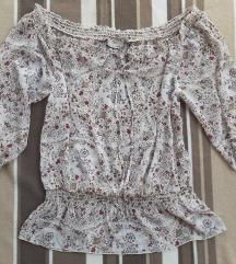 CLOCKHOUSE cvetna bluza na jedno rame