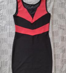 ♥️AMISU haljina, crno-crvena, S/M♥️