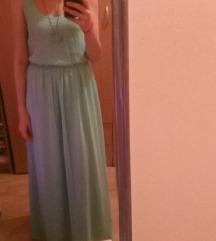Pull&bear duga svetlo plava haljina