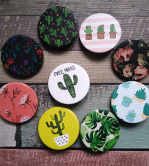 Kaktus/cveće  bedževi