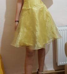 Zlatno žuta haljina