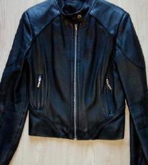 Crna kozna jakna S