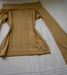 Nude Offshoulder bluza zvono rukavi