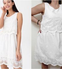 HUOSE nova kolekcija bela vez haljinica NOVO