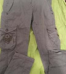 Maslinasto zelene pantalone za devojčice