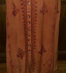 Duga izvezena haljina SNIZENJE