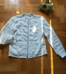 ♫ ♪ ♫ MONARI bela lanena jakna NOVO