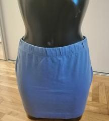Plava letnja suknjica za plazu