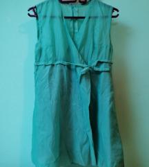 Retro zelena haljinica na preklop vel.M/L