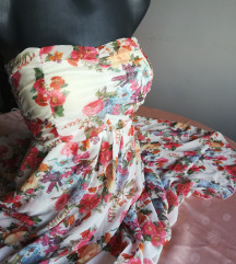 Asimetricna cvetna haljina
