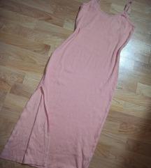 Roze duža haljina ❤️