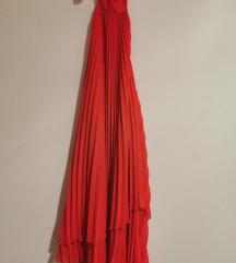 H&M Crvena Plisirana Haljina