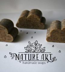 Prirodni piling sapun Oblak sa makom