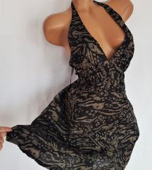 H&M ★ 100% pamučna kesten-crna haljina