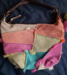 Benetton torba koza krzno