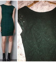 zara zelena brokat haljina 🍀☘️🍀 snizeno