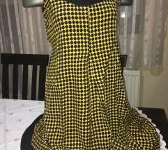 Crno zuta haljina