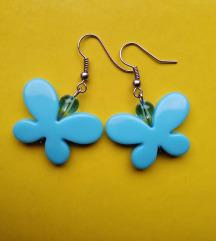 Minđuše sa plavim leptirima