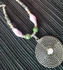 Ogrlica češko staklo - poludragi kamen