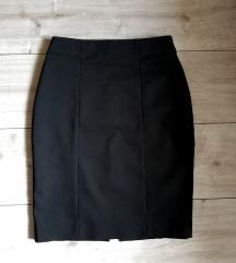 H&M klasična crna suknja
