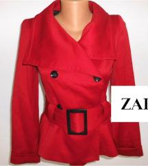 ZARA crvena jakna/ sako vel S NOVO