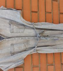 sivkast teksas haljina