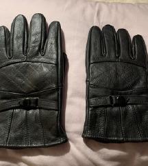 Kozne crne rukavice