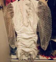Lux haljina sa puf rukavima Xs