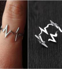 Neobican prsten srebro 925 NOVO