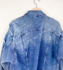 ZARA distressed dugacka teksas jakna