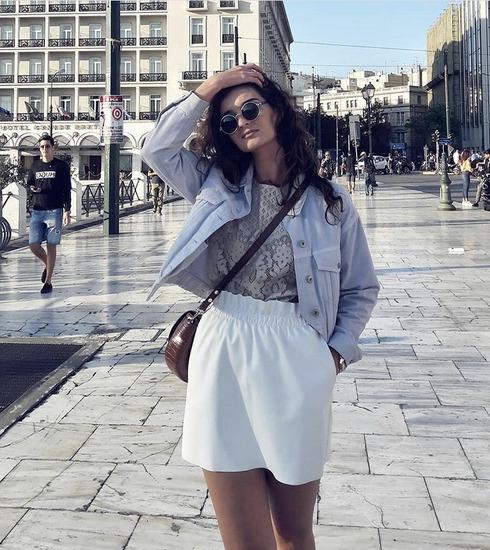 Bela mini suknja