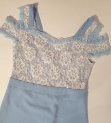Baby plava haljina sa cipkom 🦋