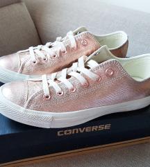 Converse roze zlatno kozne starke NOVO!