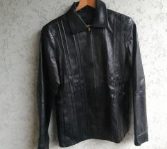 Crna kozna jakna Only