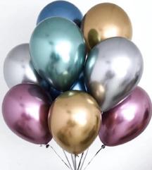 Dupli Baloni METALIC Prelepi, Kvalitetni 12 komada