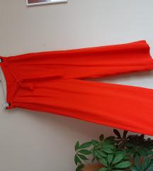 H&M XS jarko crvene pantalone