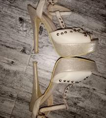 Zlatne/bež sandale