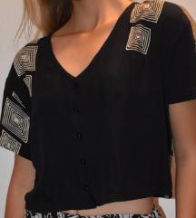 Kraća košulja sa geometrijskim printom