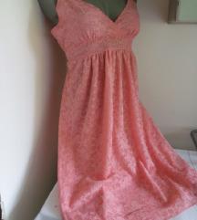 Lindex roze cipkana haljina M