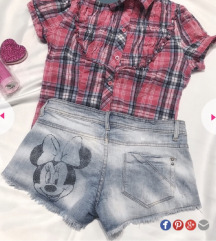 Terranova Minnie Mouse teksas Sorts