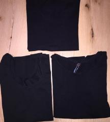 3 crne majice za 1200