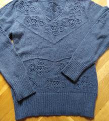 Sivi  zimski džemper M - L